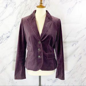 Ann Taylor Loft Velvet Jacket Size 8